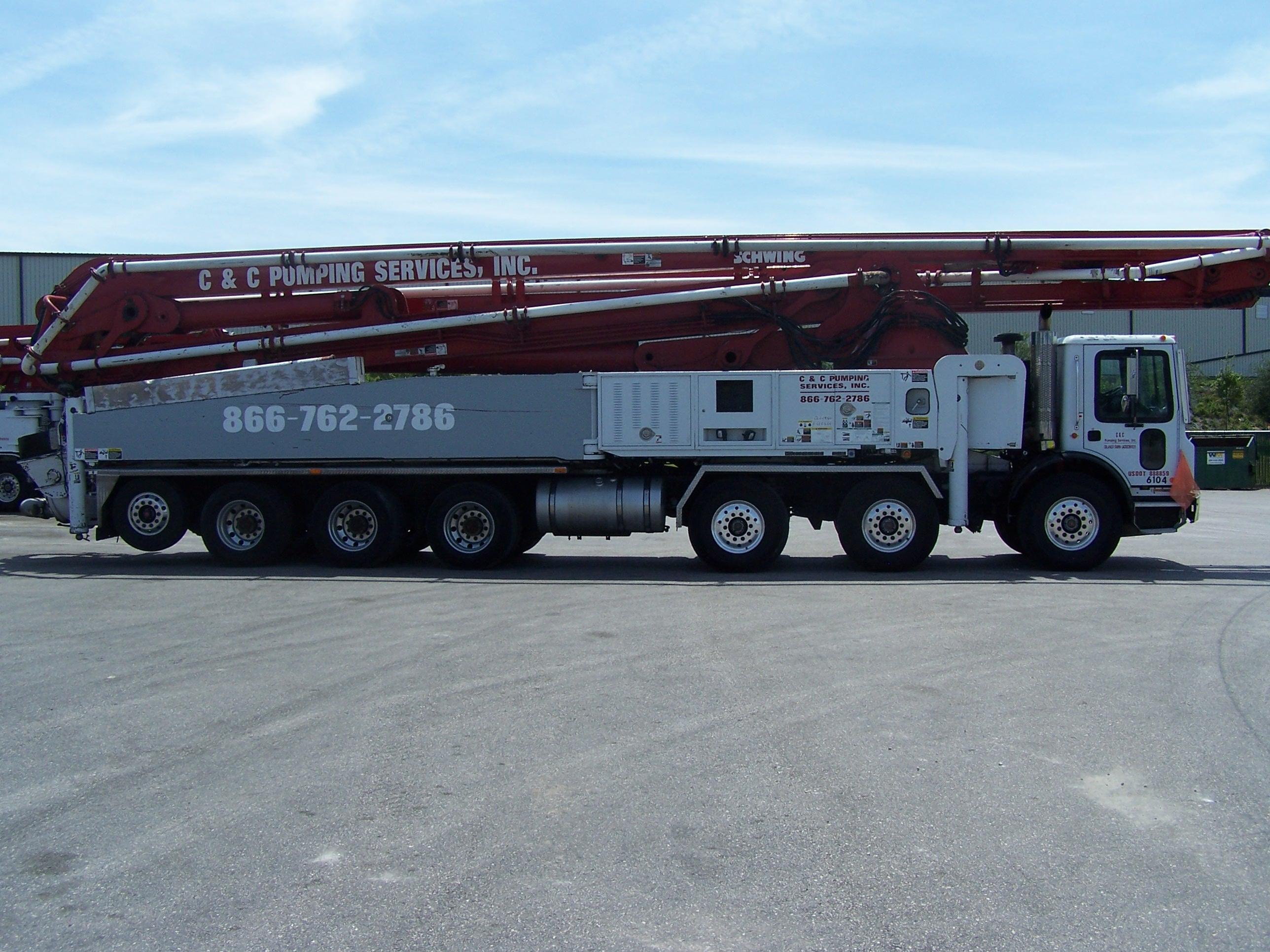 Boom Pump Sizes - C&C Pumping Services